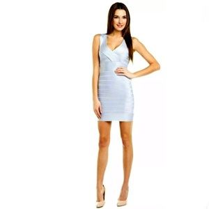 French Connection US 2 Blue Bandage Dress Bodycon